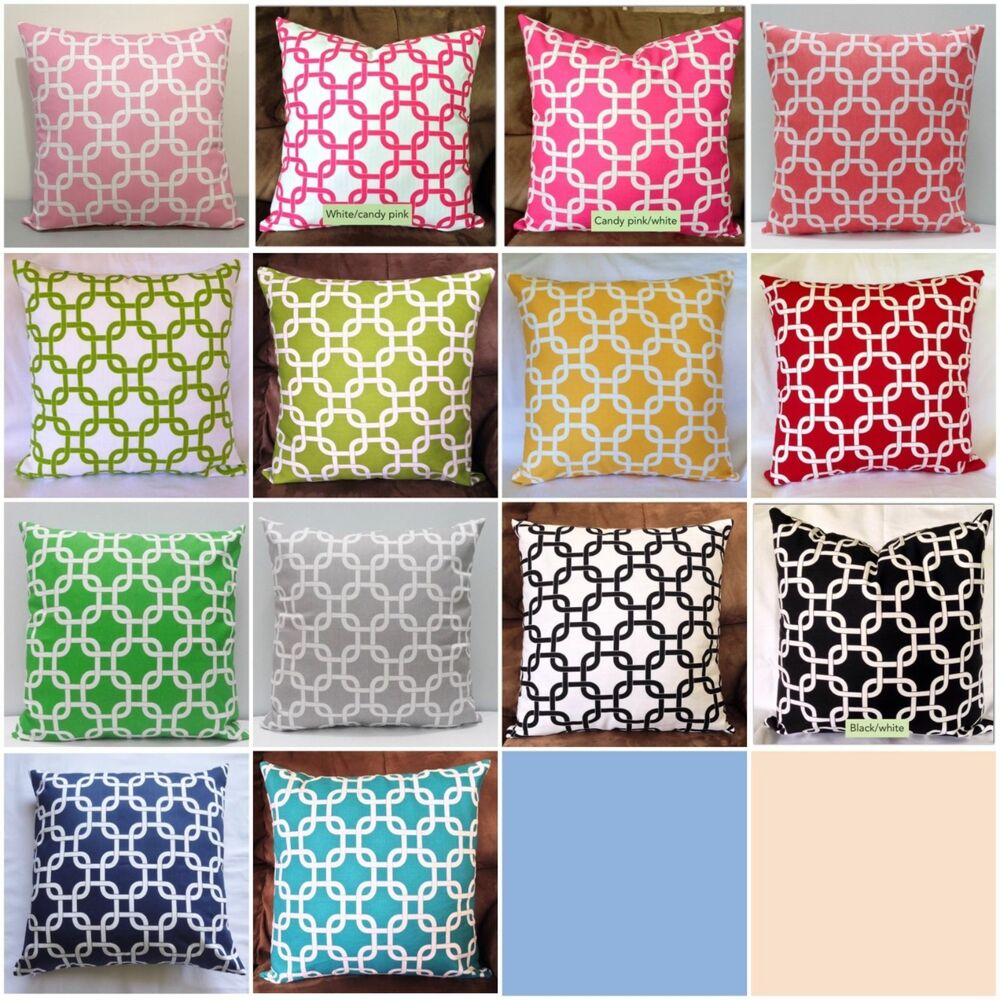 Gotcha chain link many sizes colors decorative throw - What is a throw pillow ...