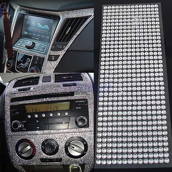 504pcs car auto interior exterior sticker bling crystal design rhinestone 6mm ebay