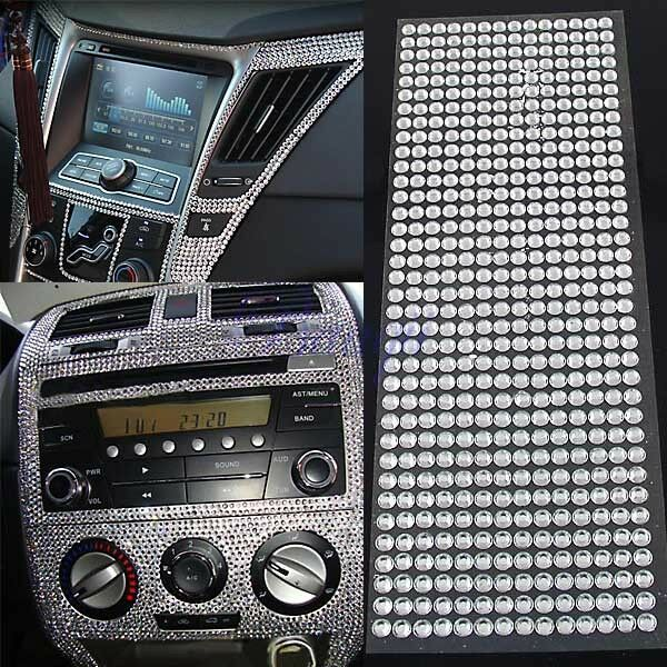 504pcs car auto interior exterior sticker bling crystal design rhinestone 6mm ebay. Black Bedroom Furniture Sets. Home Design Ideas