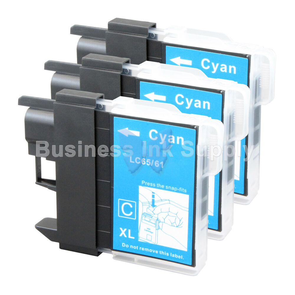 3 CYAN LC65 NEW HIGH YIELD Compatible Ink LC65C LC65 LC 65