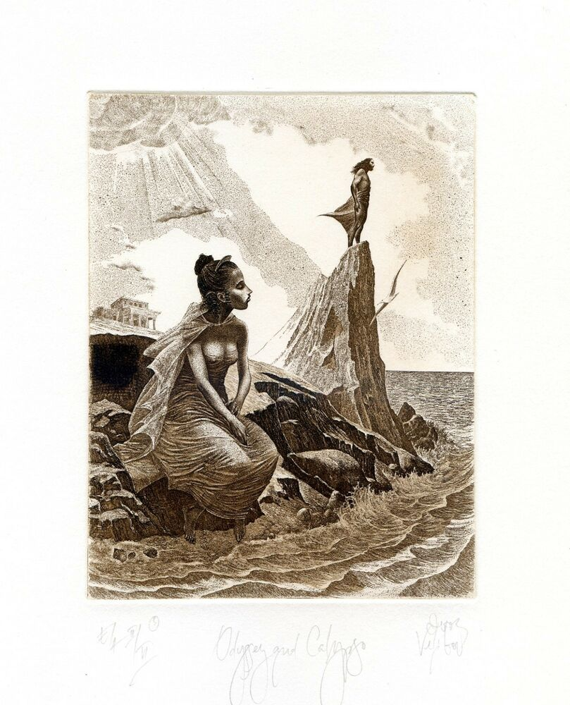 """odyssey and calypso Odysseus faces his biggest challenge with calypso because, """"for seven of the ten years odysseus has spent wandering the mediterranean sea, he has been held captive by the goddess calypso on her island,"""" (homer 1206) after odysseus' men die from all his other obstacles he is alone to fend for himself."""