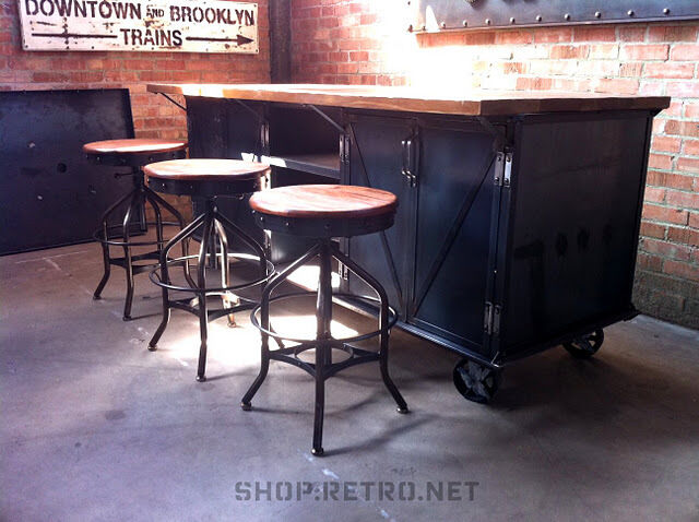 industrial style kitchen islands vintage industrial kitchen island cart ebay 18798