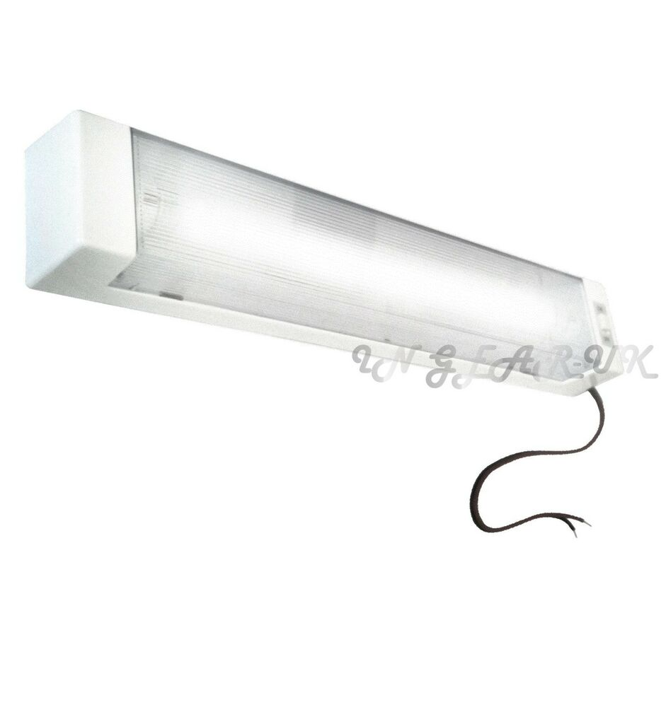 12V Fluorescent Tube Strip Interior Light Hard Wire Screw Wall Mount Caravan NEW eBay
