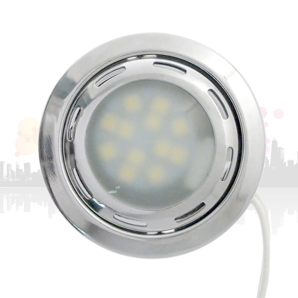 12V Cool White 12 SMD LED Kitchen Under Cabinet Light Home