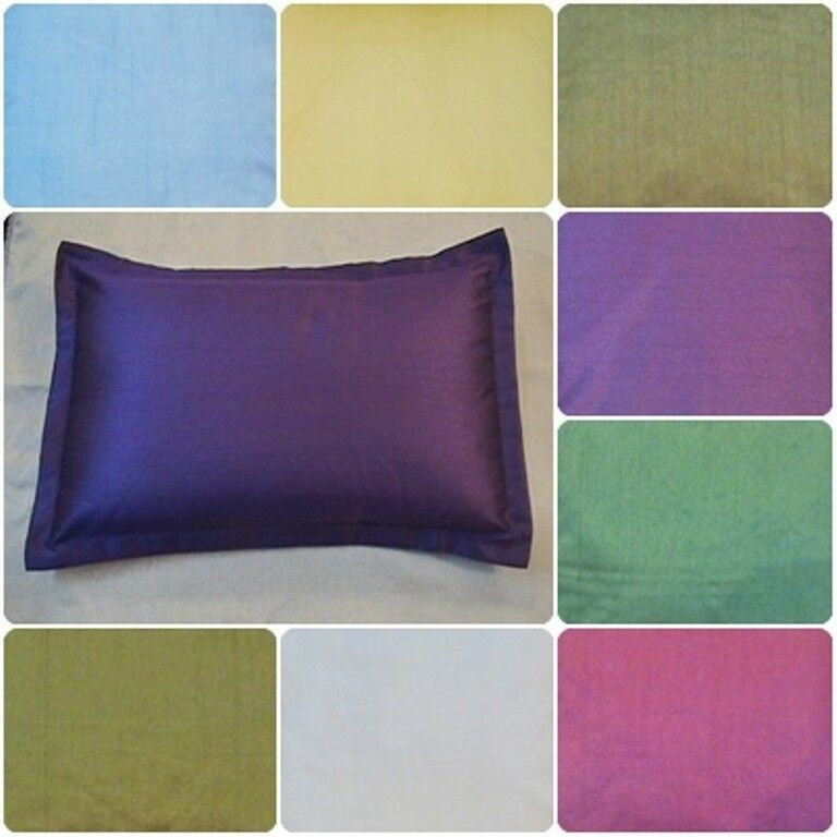 Plain solid bed pillow case queen standard king size for Dreamfinity king size pillow