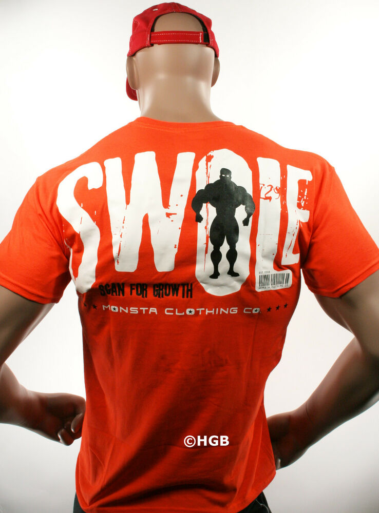 Monsta clothing mens graphic tee bodybuilding wear swole t Fitness shirts for men