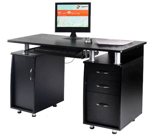 Office Desk Computer Pc Table Home Furniture Ab D10 Black