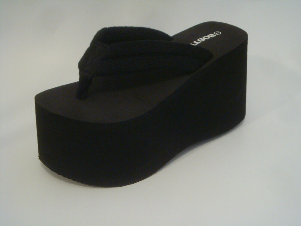 Platform flip flops with special adornments such as sequins or beading provide a more unique and fashionable look that is suitable for somewhat dressier occasions. The size of the platform on these shoes .