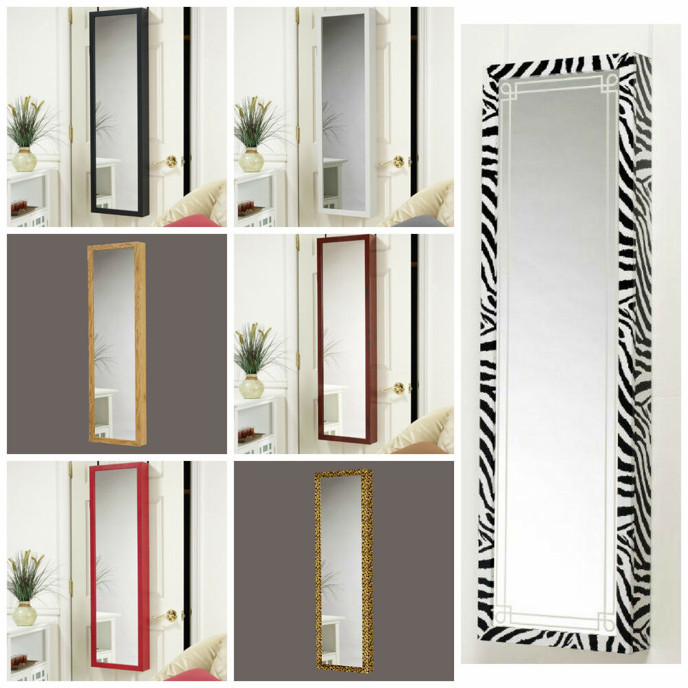 Decorative Wall Mirror Jewelry Organizer : Mirror jewelry armoire organizer over door or wall hang