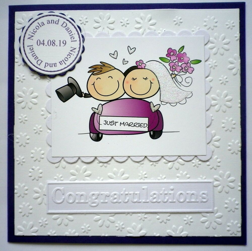 Wedding Congrats: Hand Made WEDDING CONGRATULATIONS Card PERSONALISED For