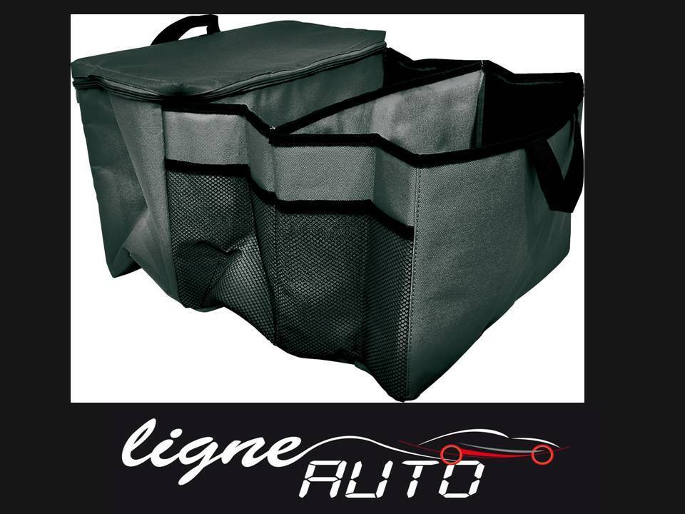 sac de rangement pour le coffre noir thermo auto voiture caravane camping car ebay. Black Bedroom Furniture Sets. Home Design Ideas
