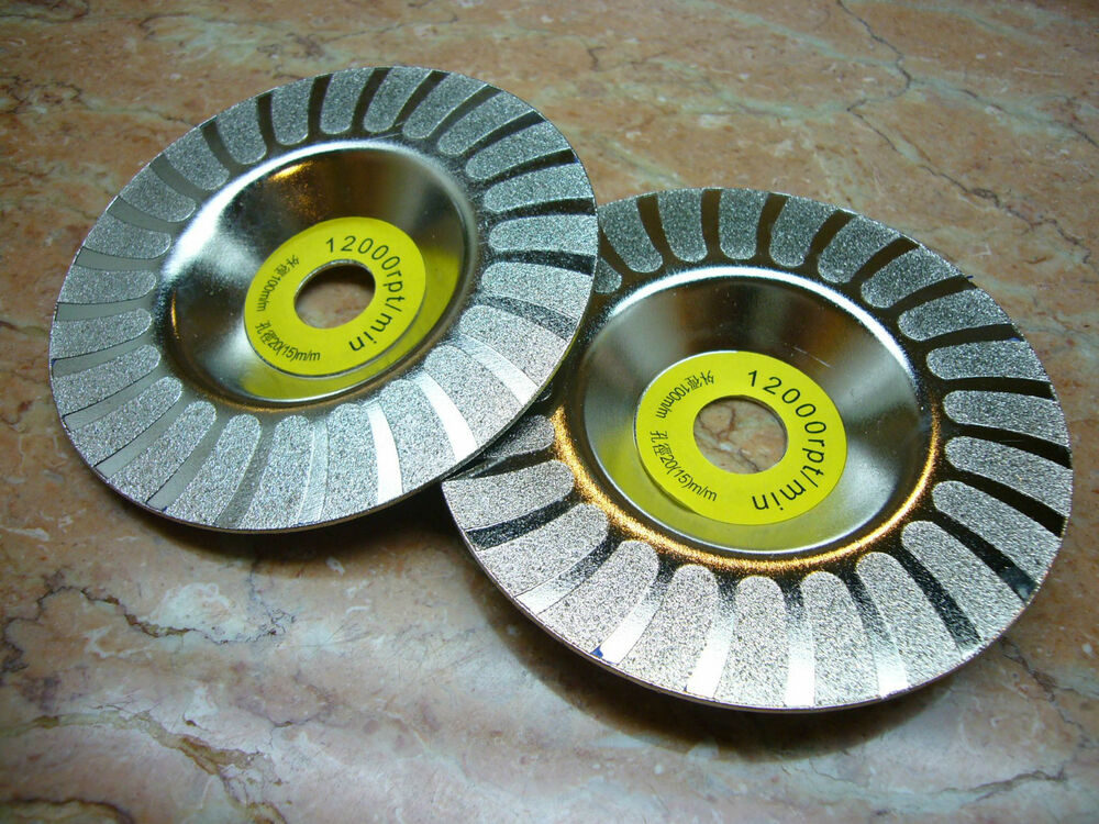 100mm 4 Inch Thk Diamond Coated Grinding Grind Disc Round