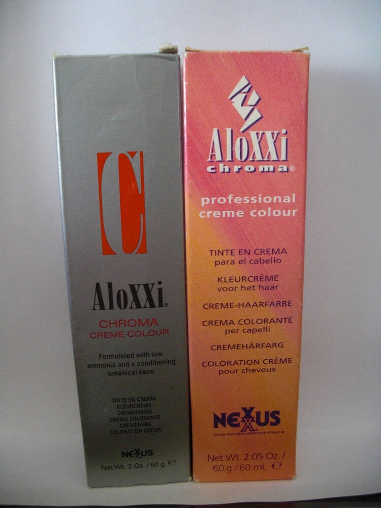 Nexxus aloxxi chroma creme hair color permanent your for Hair color letters