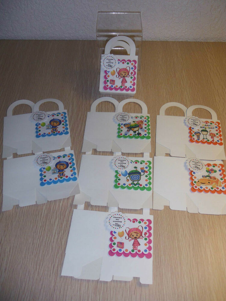Personalized Party Favor Boxes Birthday : Team umizoomi boxes birthday party favors personalized