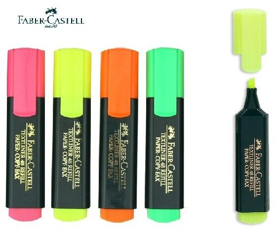 faber castell textliner 48 refill highlighter pen marker 4pcs ebay. Black Bedroom Furniture Sets. Home Design Ideas