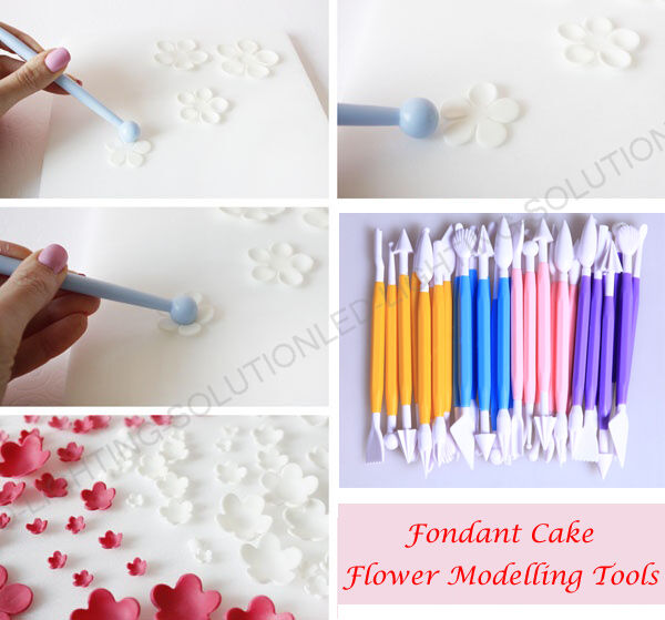 Cake Decorating Modelling Icing : 16 MODELLING TOOLS CAKE DECORATING BAKING SUGARCRAFT ICING ...