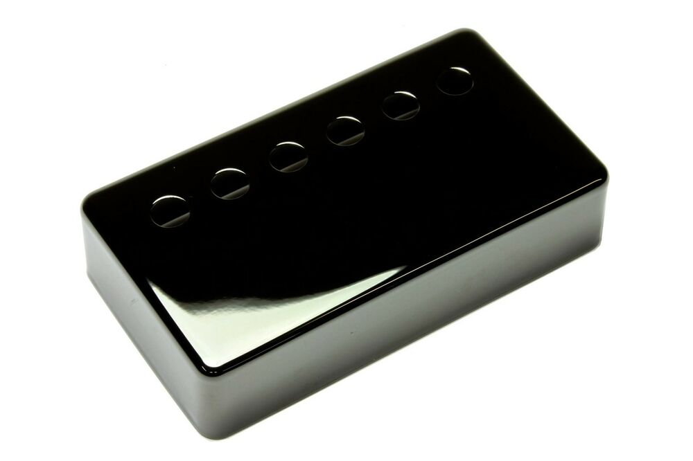 humbucker pickup cover jet black nickel plated nickel silver 1 15 16 ebay. Black Bedroom Furniture Sets. Home Design Ideas