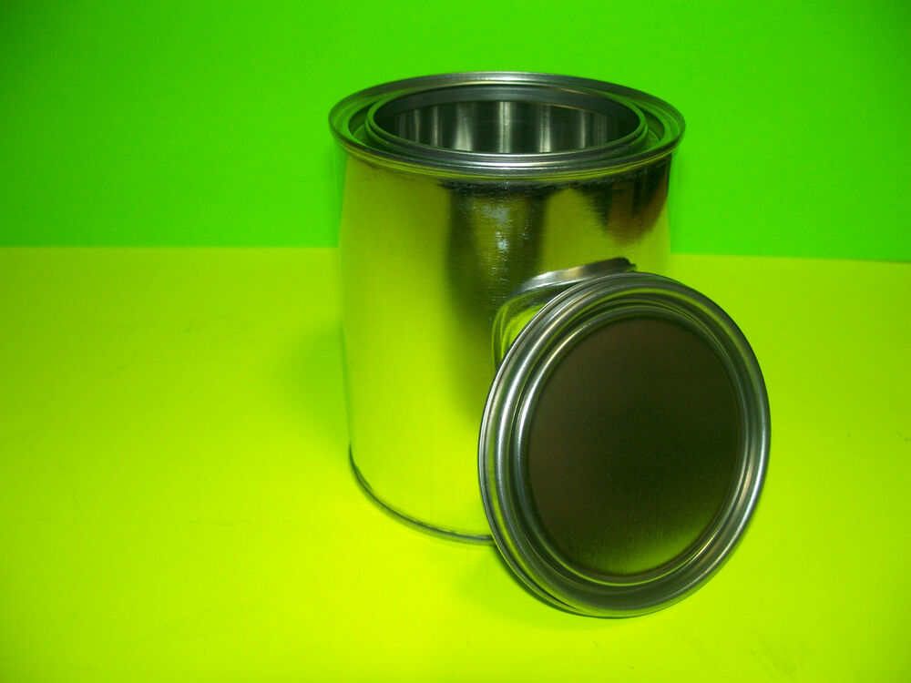 Quart Size Empty Metal Paint Can With Lids New Unused Case