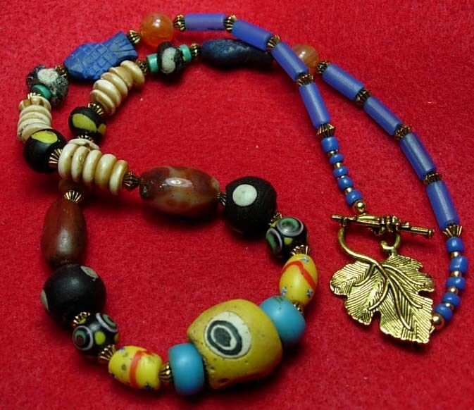 Bead Glass African Beads: Ancient Roman Glass& Carnelian Beads + Venetian African