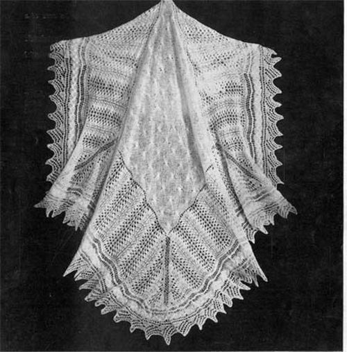 Baby Shawl Patterns To Knit : Baby Shetland Lace Baby Shawl- Knitting pattern only eBay