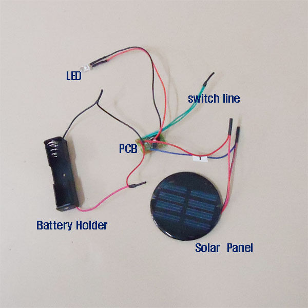 Outdoor Solar Lights Parts: Solar Auto Light Red Green Blue Color Changing DIY Kit