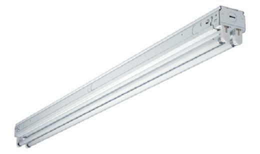 Cooper snf232r metalux 439 2 lamp t8 residential strip for 2 lamp t8 light fixtures