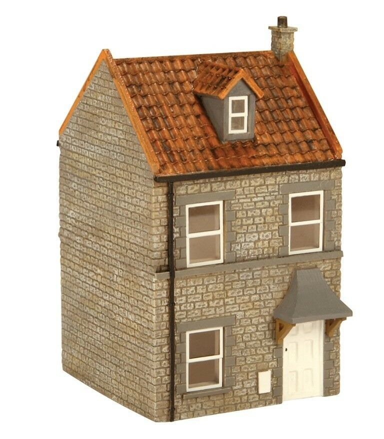 Hornby r9722 skaledale bay terrace house r h 1 76 scale for Watch terrace house