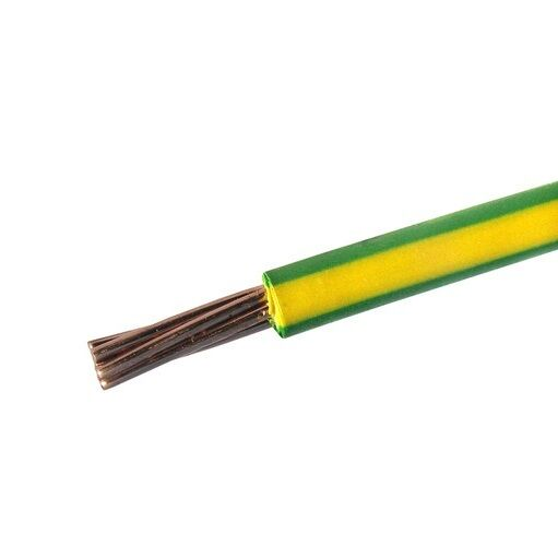 25mm 16mm 10mm 6mm 4mm 6491x Green Yellow Earth Cable Per