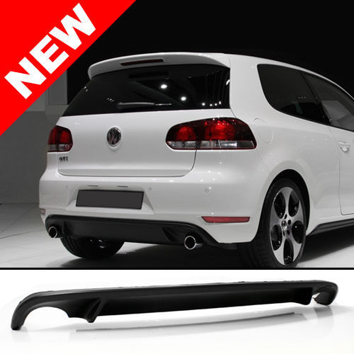 10 14 vw mk6 golf dual outlet rear bumper lower diffuser. Black Bedroom Furniture Sets. Home Design Ideas