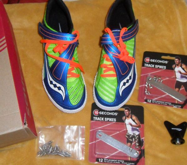 new saucony uplift high jump shoes spikes unisex s 7