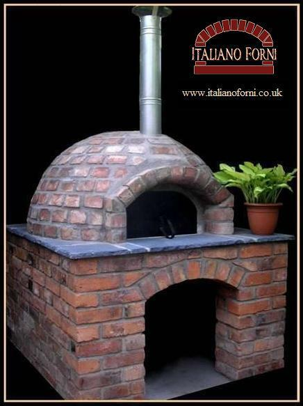 italiano forni wood fired burning pizza oven delux kit ebay