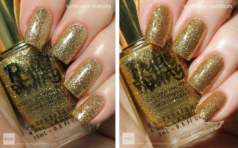 Ruby Wing Sunflower Gold Yellow Glitter Mood Sun Color Changing Nail Polish Ebay