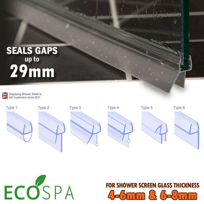 Universal Bath Shower Screen Door Seal 900mm Quality Rubber Plastic Seal NEW eBay - Bath Shower Door Seal