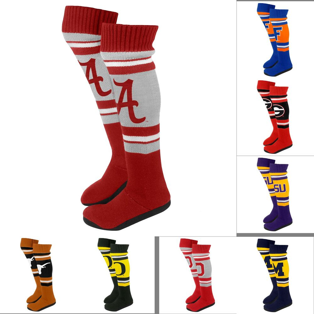 Ncaa College 2013 Womens Ladies Plush Knit Knee High Boot