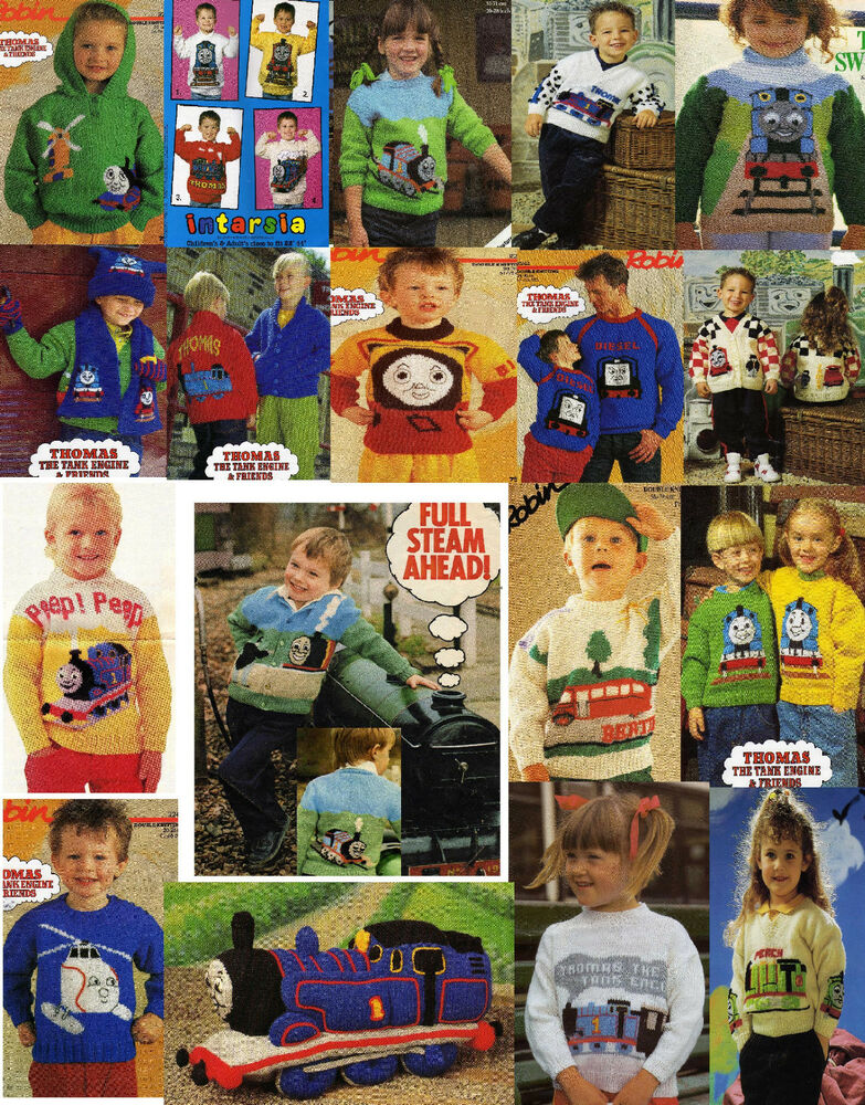 Thomas the Tank Engine & Friends Intarsia knitting patterns on CD eBay