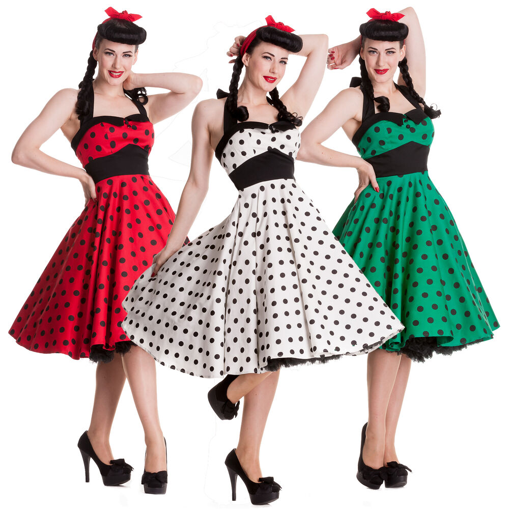 Wedding Dresses For Over 50s Uk: Hell Bunny Mariam Dress Polka Dot 50s Pin Up Prom Wedding