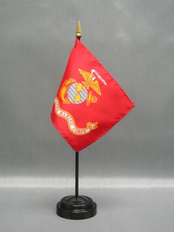 Marines 4x6 table top flag w base new us marines desk for Table 6 usmc