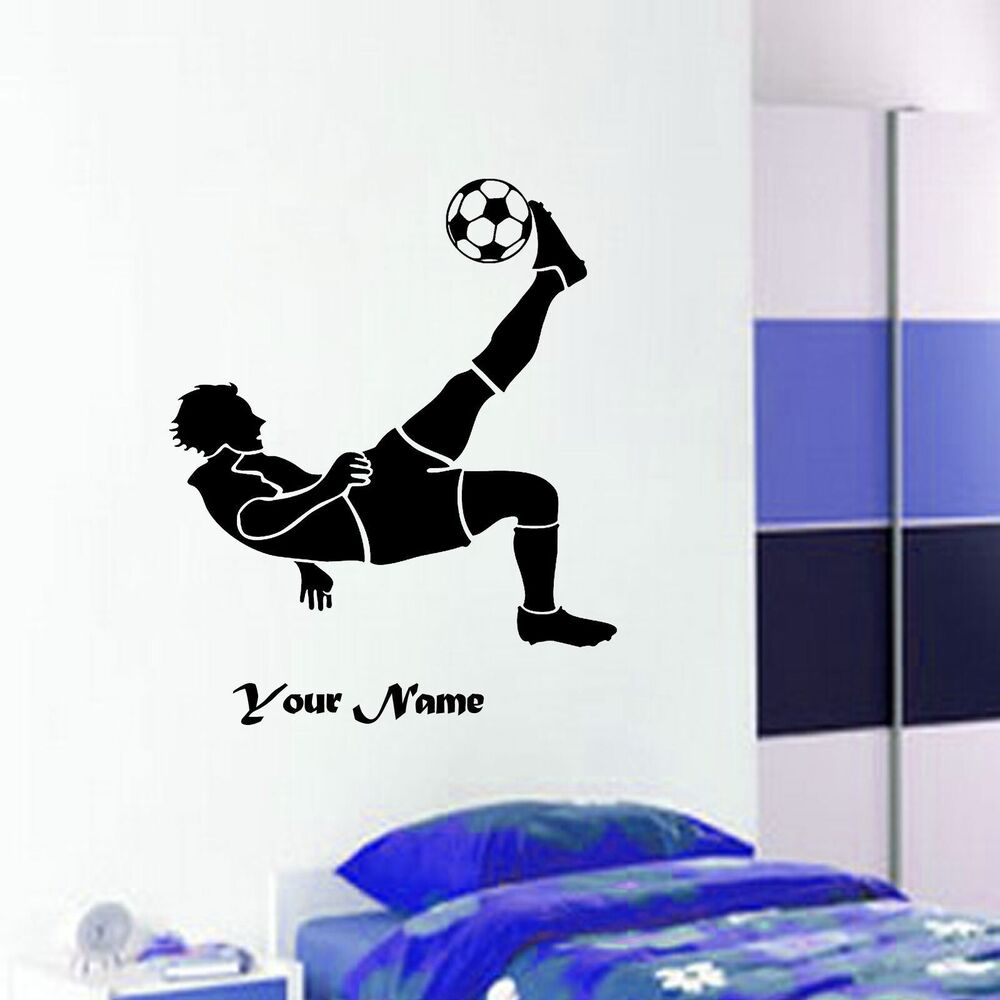 Football soccer player action custom wall art sticker for Custom wall mural decals