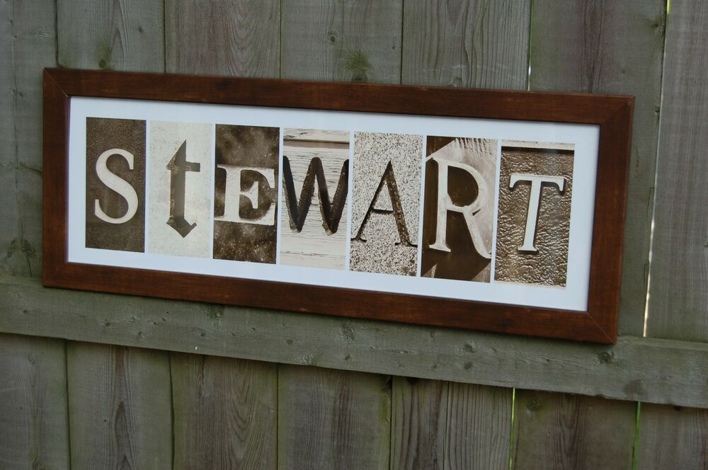 how to make personalized name frame