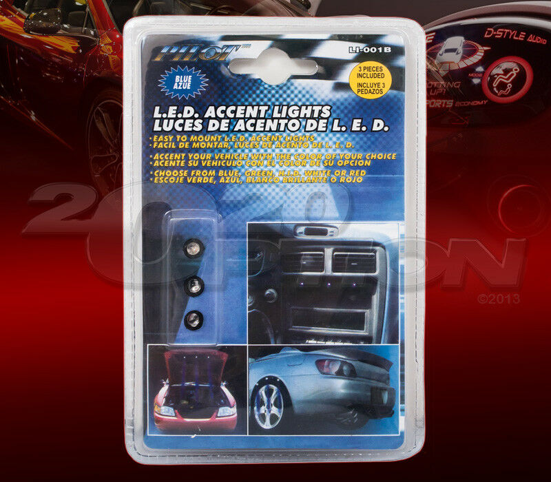 pilot automotive 3 blue led accent light for interior and exterior ebay. Black Bedroom Furniture Sets. Home Design Ideas