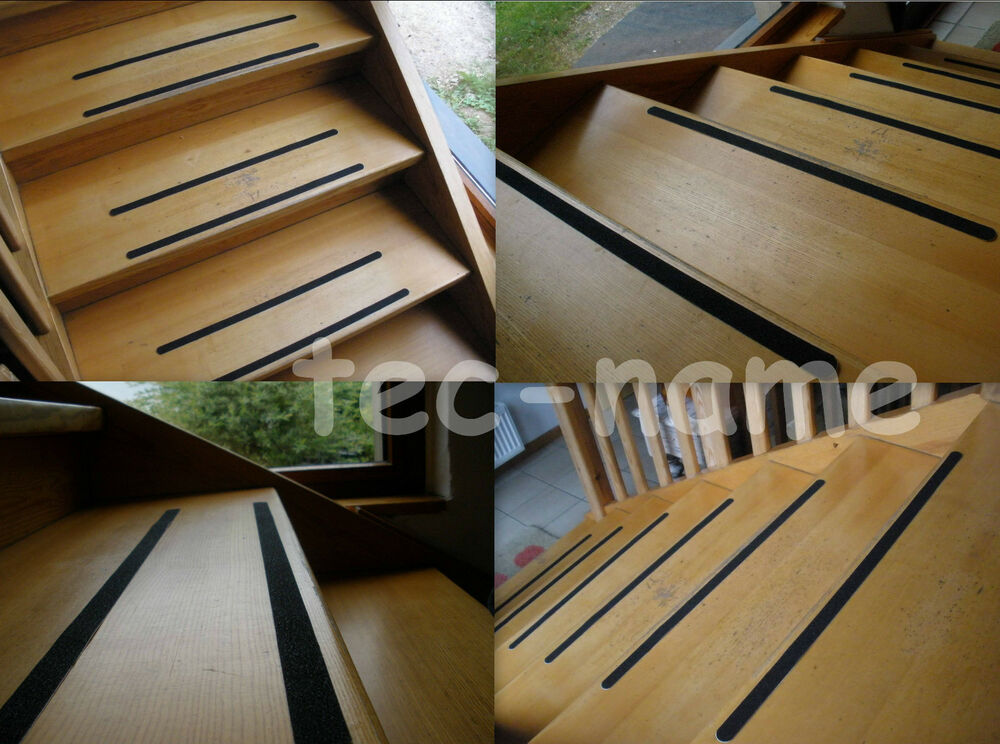 6 klebe pads a 60cm rutschhemmende klebe streifen klebeband treppen stufen ebay. Black Bedroom Furniture Sets. Home Design Ideas