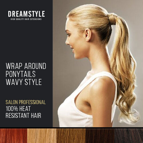 Dreamstyle Clip In Ponytail Hair Extensions Wrap Around