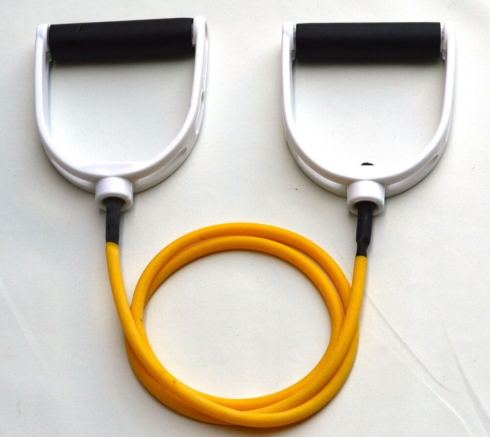 Extra Light Resistance Tubing With Handles, Fitness