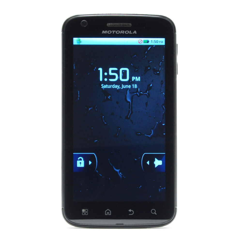 motorola atrix 4g 16gb black at t smartphone 723755921474 ebay. Black Bedroom Furniture Sets. Home Design Ideas