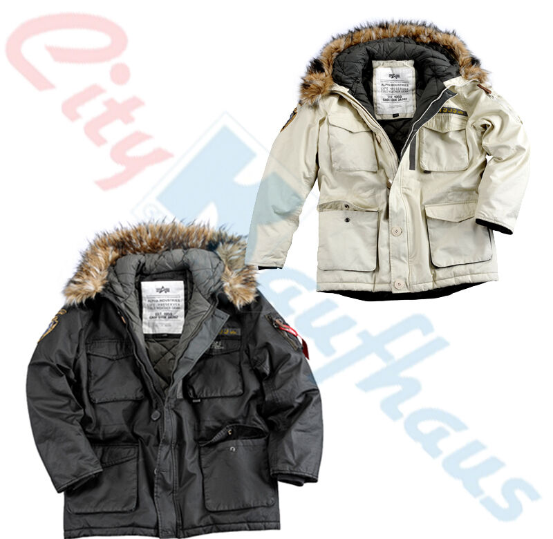 alpha industries mountain parka jacke herren winterjacke 133143 winter lang ebay. Black Bedroom Furniture Sets. Home Design Ideas