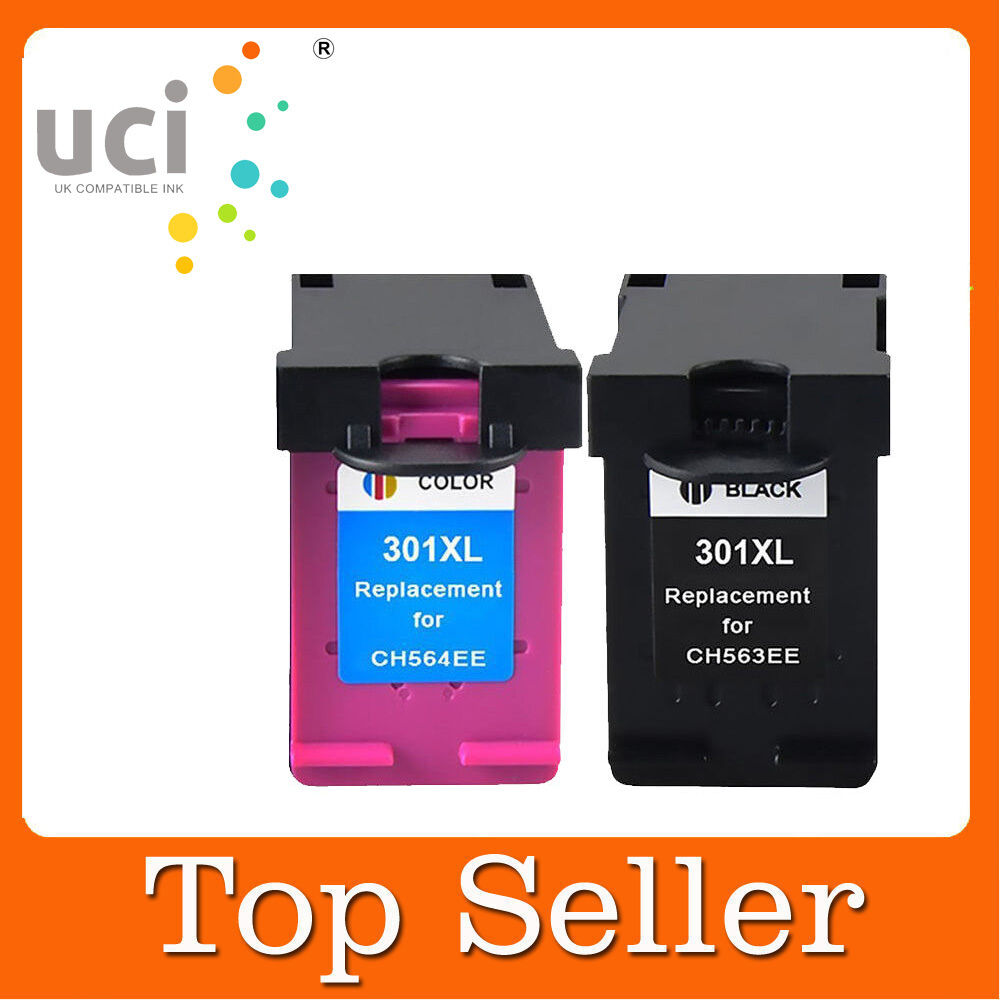 2 ink cartridge for hp 301xl deskjet 2540 2542 1000 1010 1050a all in one 1510 ebay. Black Bedroom Furniture Sets. Home Design Ideas