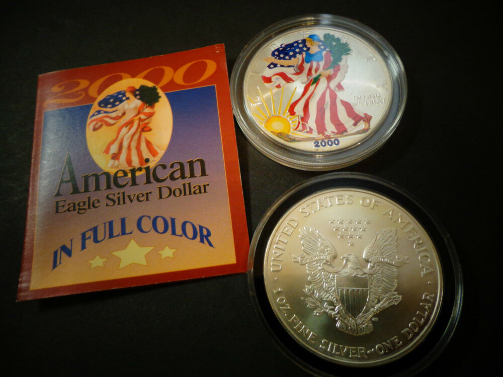 2000 Full Colorized American Silver Eagle 1 Troy Oz 1