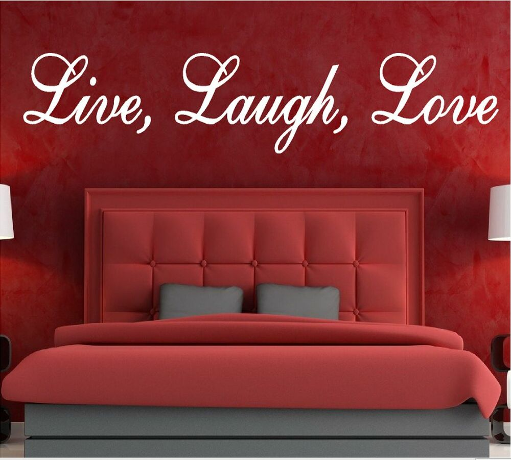Love Wall Quotes: LIVE LAUGH LOVE VINYL DECAL WALL STICKER QUOTE ROMANTIC