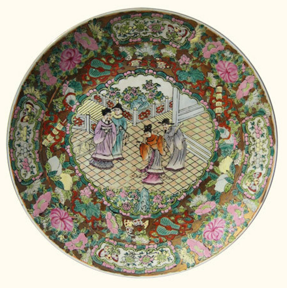 Hand Painted Plates : Inch chinese porcelain plate hand painted rose
