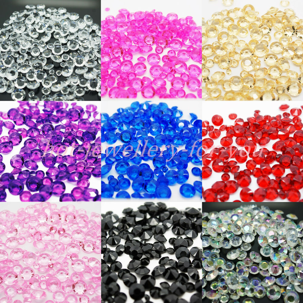 Diamond confetti table crystal decoration wedding party for Decoration jewels mhw